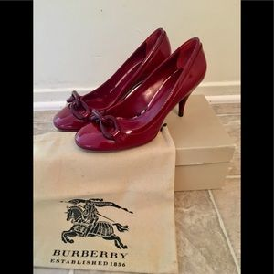 🆕 *Repost* New Burberry burgundy heels.